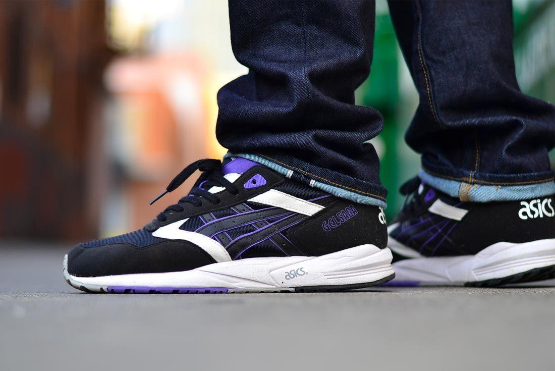 Asics Gel Saga Ii Black Purple Colourway
