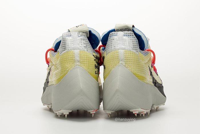 Off White Nike Vaporstreet Yellow Heel Shot