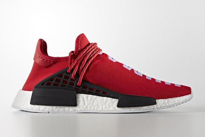 Pharrell Williams X Adidas Hu Nmd Red5