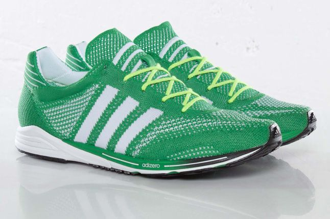 Adidas Primeknit Olympics Prime Green Side Pair 1