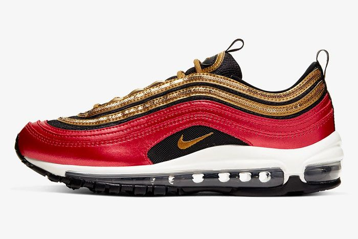 Nike Air Max 97 Gold Sequins Left