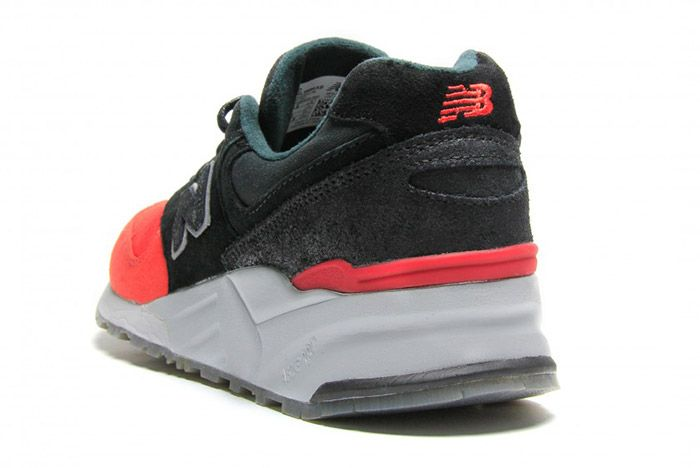 New Balance 999 Waxed Canvas Red Black 1