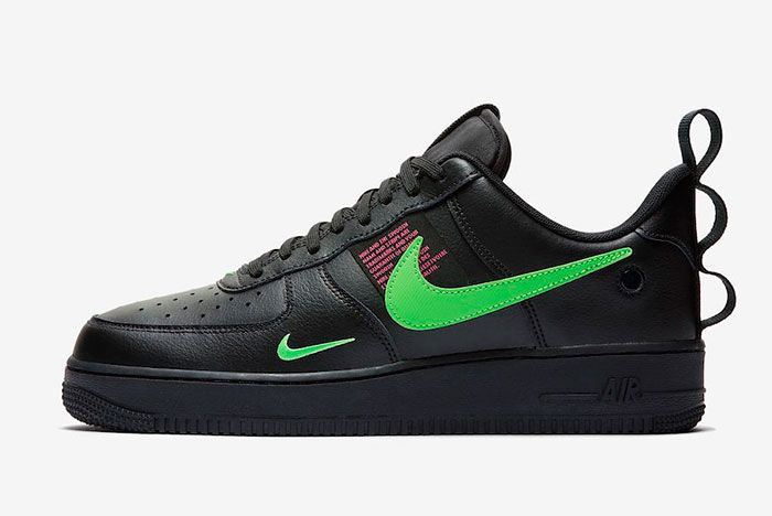 Nike Air Force 1 Lv8 Ul Black Green Toe Left