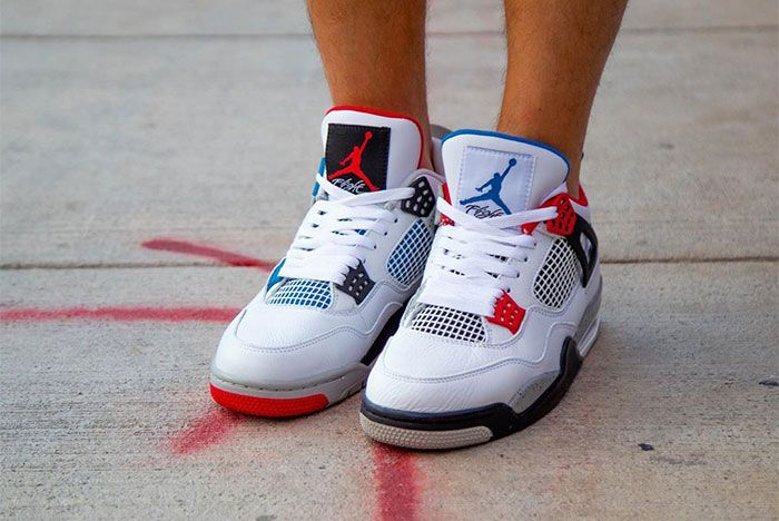 Air Jordan 4 What The On Foot Toe 2