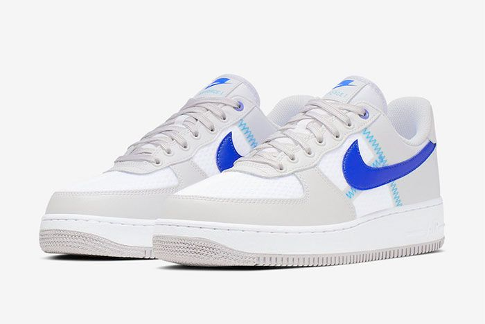Nike Air Force 1 Low Racer Blue Ci0060 001 Lateral Three Quarter Angle Shot