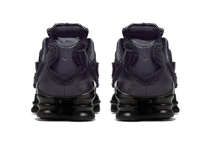 Comme Des Garcons Nike Shox Tl Black Cj0546 001 Release Date Heel