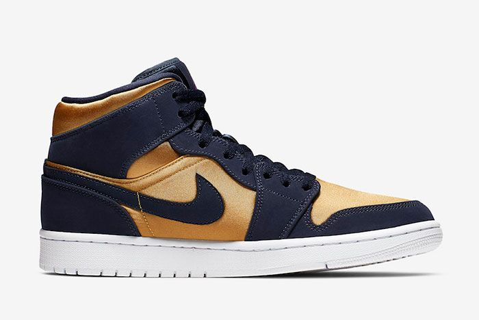 Air Jordan 1 Mid Stain Gold 852542 401 Release Date 2 Side