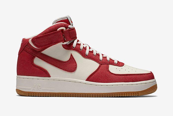Nike Air Force 1 Red Denim 3
