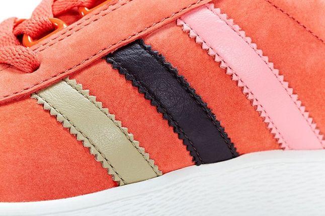 Adidas Consortium Adicolor Salmon Red Midfoot Detail 1