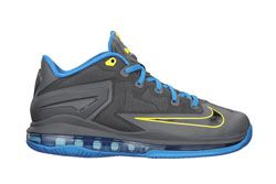Le Bron 11 Low Gs Gry Blu Dp