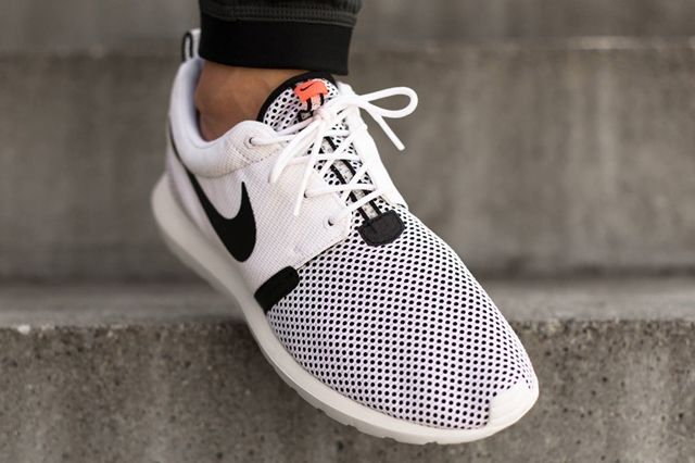 Nike Roshe Run Nm Breeze White Balck Hot Lava 02