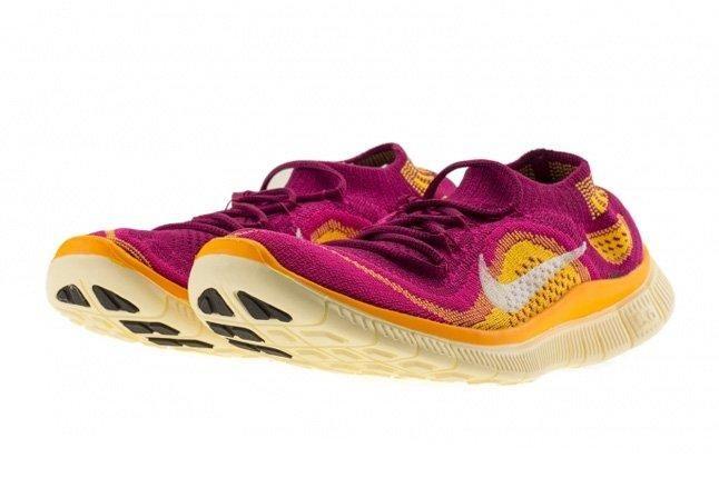 Nike Free Flyknit Free Berry Laser Orange 3