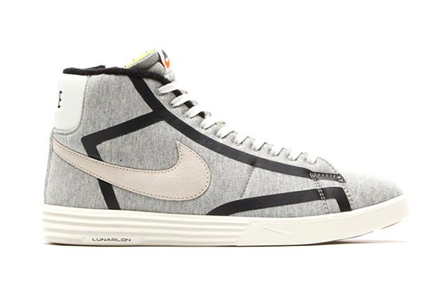 Nike Lunar Blazer Tech Fleece Wolf Grey Sail Black 1