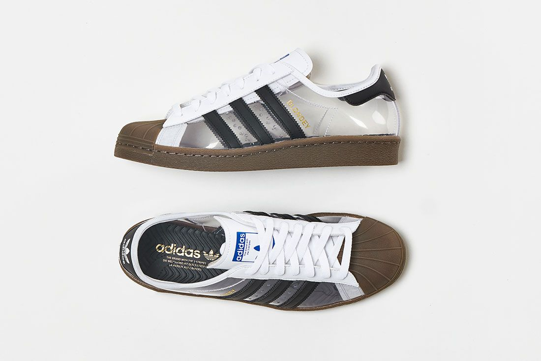 Blondey Mccoy Adidas Skateboarding Superstar 80S White Clear Gum Top