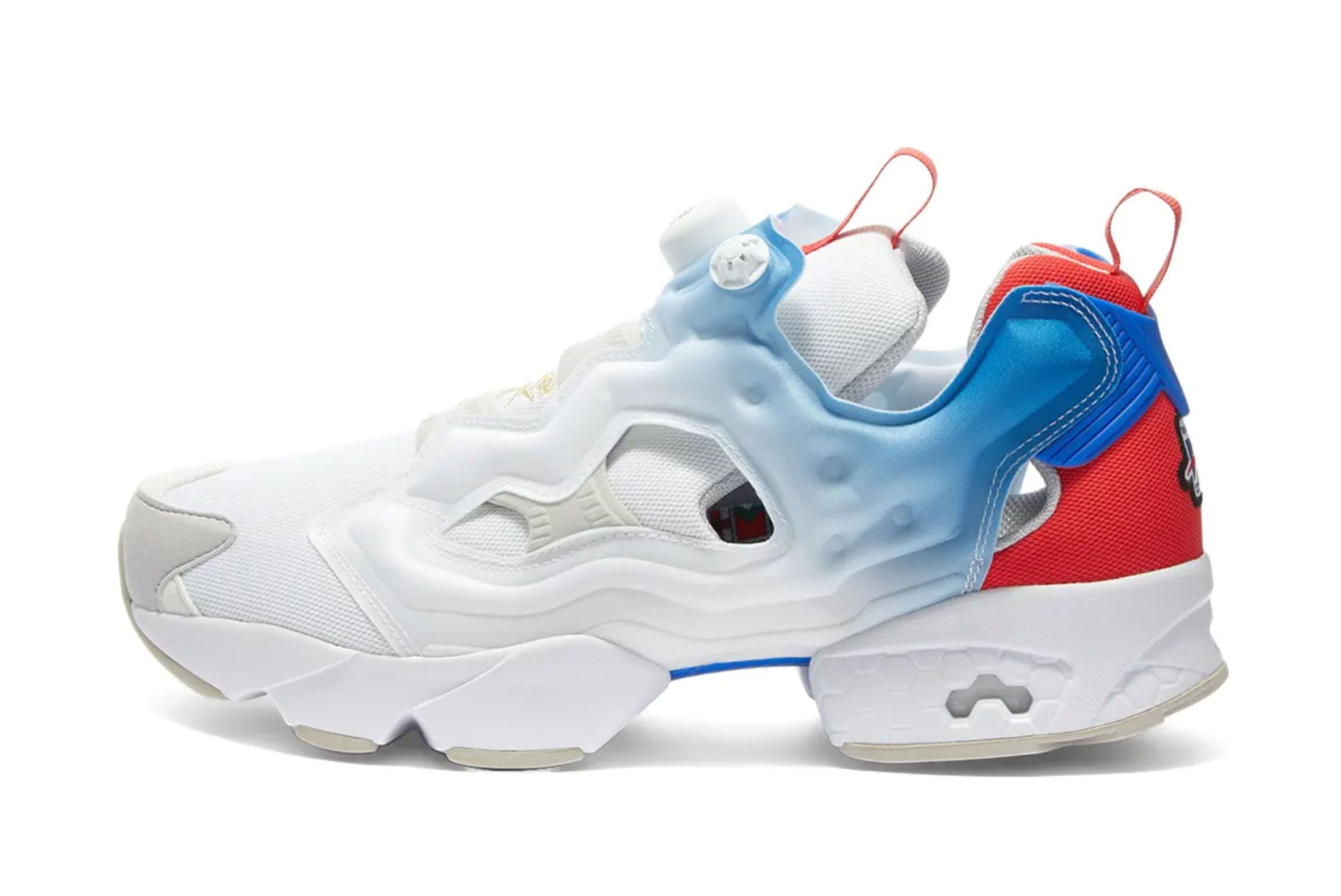 Reebok Instapump Fury (White/Blue/Red)