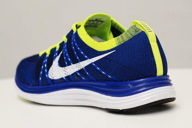 Nike Lunar One Blue Volt Quater Heel 1