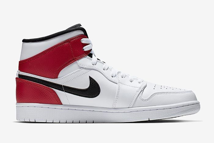 Air Jordan 1 White Black Red 554724 116 Right Side Shot