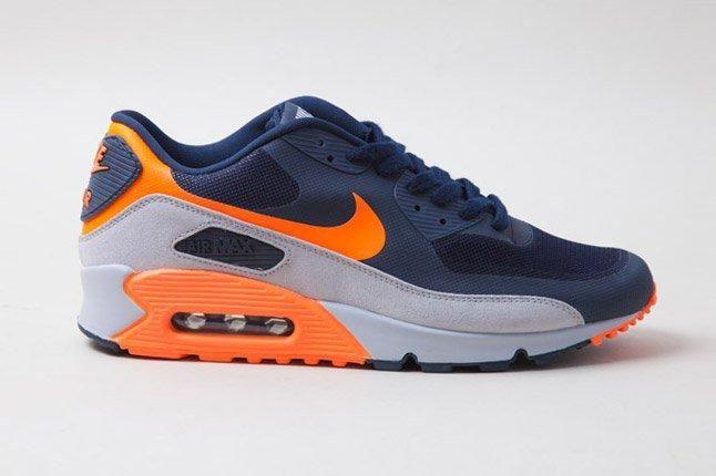 Nike Air Max 90 Hyperfuse Orange Blue Side Profile 1