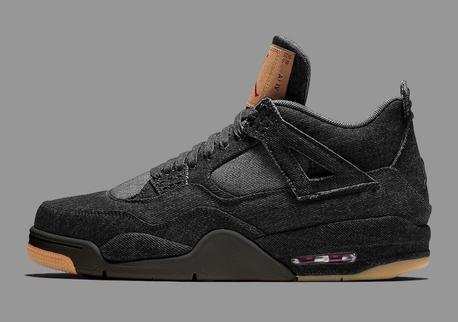 Levis Air Jordan 4 Black Denim Release Info