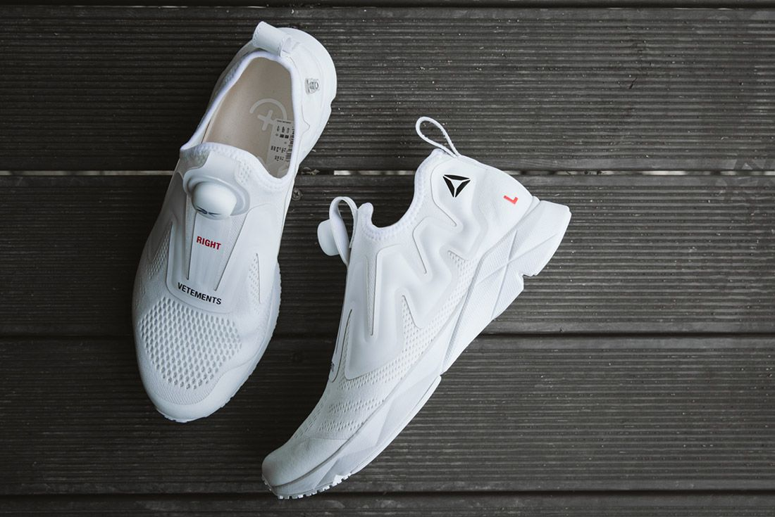 Vetements Reebok Pumps White 1