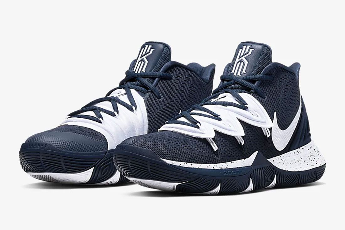 Nike Kyrie 5 Gear Up Midnight Navy Pair