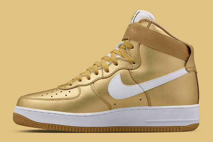 Gold Nike Air Force 1 3