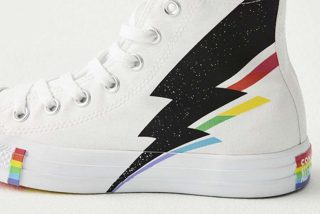 Converse All Star Pride Hi Pride Flag Side