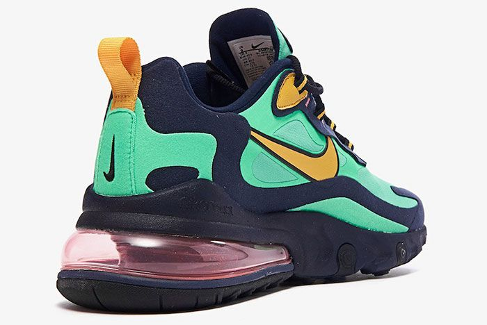 Nike Air Max 270 React Electro Green Ao4971 300 Rear Angle