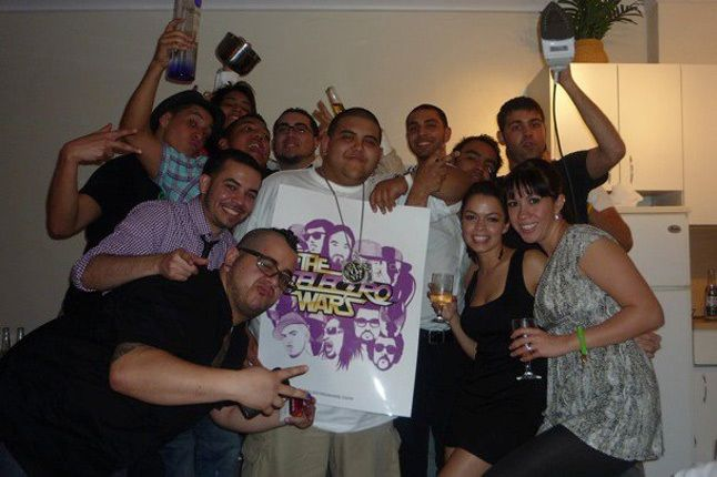 The Entire Crew With The Poster 1