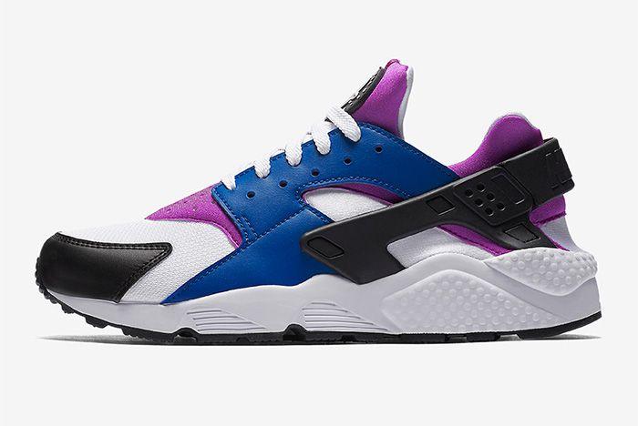 Nike Air Huarache Blue Jay White Hyper Violet Black 2