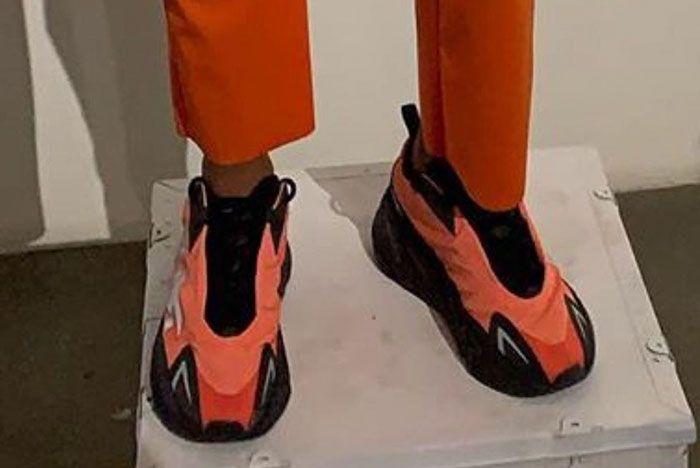 Yeezy Boost 700 Vx Crimson On Foot