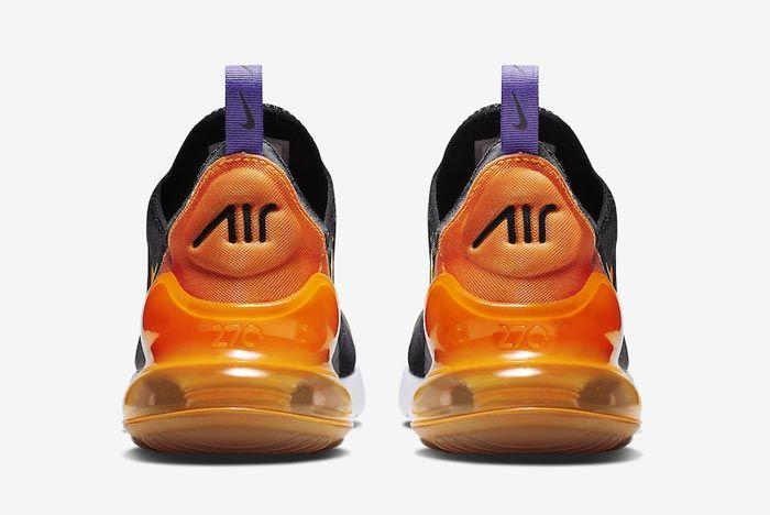 Nike Air Max 270 Purple Orange Heels