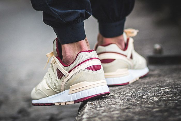 Saucony Grid Sd Cream Burgundy 3