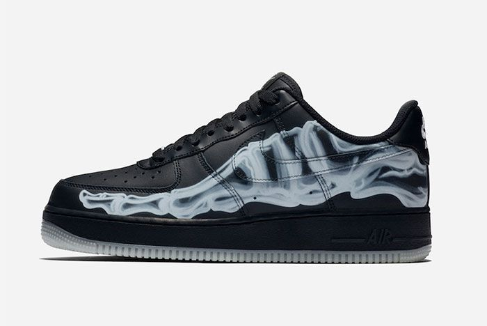 Nike Air Force 1 Black Skeleton Left