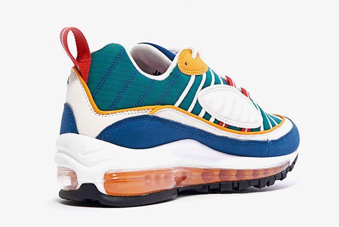 Nike Air Max 98 Womens Multi Color Ah6799 601 1 Back Heel Shot 5