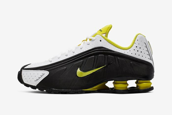 Nike Shox R4 Dynamic Yellow Lateral