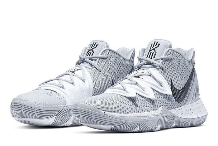 Nike Kyrie 5 Team Bank Grey White Toe