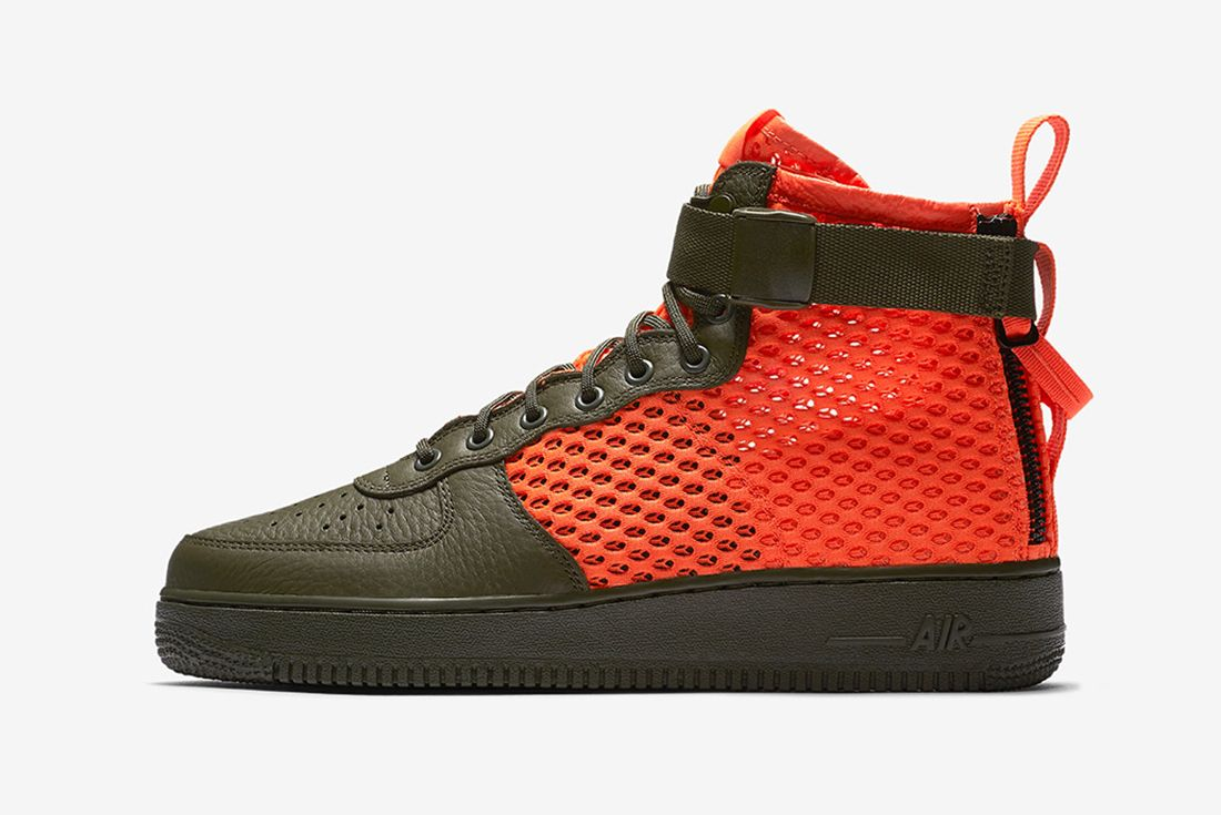 Nikes Sf Af 1 Goes Off Duty In Crimson Mesh7