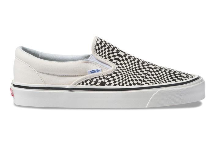 Vans Warp Check Slip On Black 3