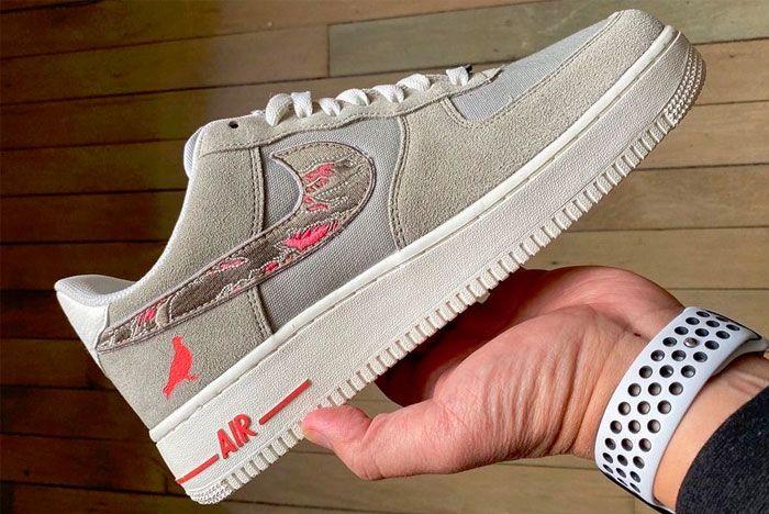 Jeff Staple Sbtg Nike Air Force 1 Pigeon Fury