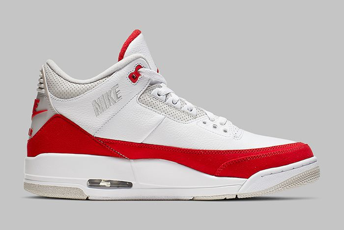 Air Jordan 3 Tinker University Red Right Side Shot