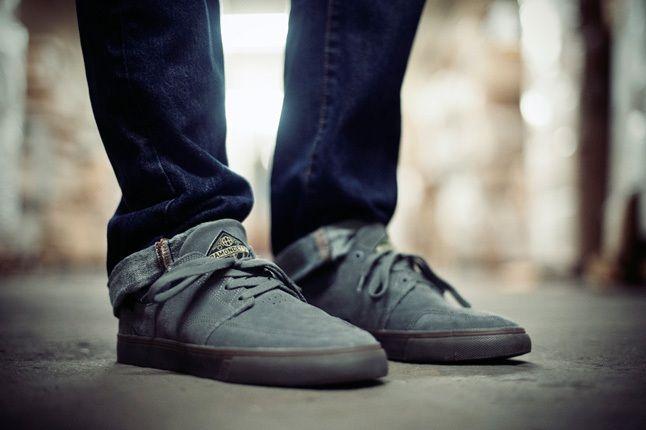 Huf Ramondetta Pro Grey On Foot Profile 1