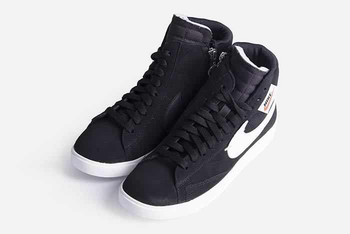 Nike Blazer Mid Rebel Womens Black Bq4022 001 4