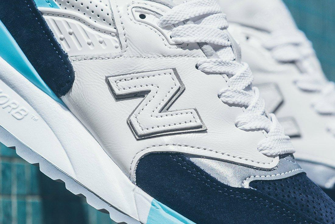 New Balance 998 White Navy Blue 3