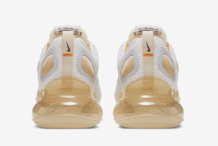 Nike Air Max 720 Pale Vanilla Ci6393 100 Heel Shot 2