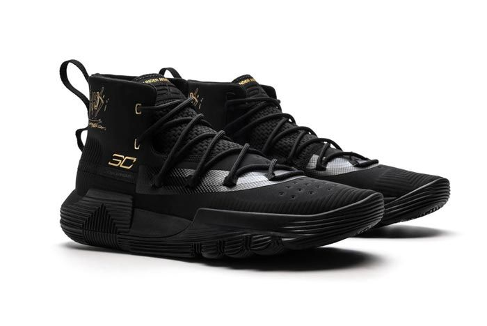 Under Armour Curry 3Zer0 2 Black Gold Pair