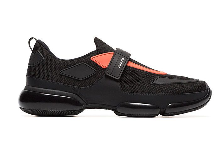 Pradas Cloudbust Receives A Bright Contrast Black Orange Colorway 1 Sneaker Freaker