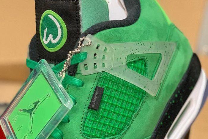 Air Jordan 4 Wahlburgers Green 1