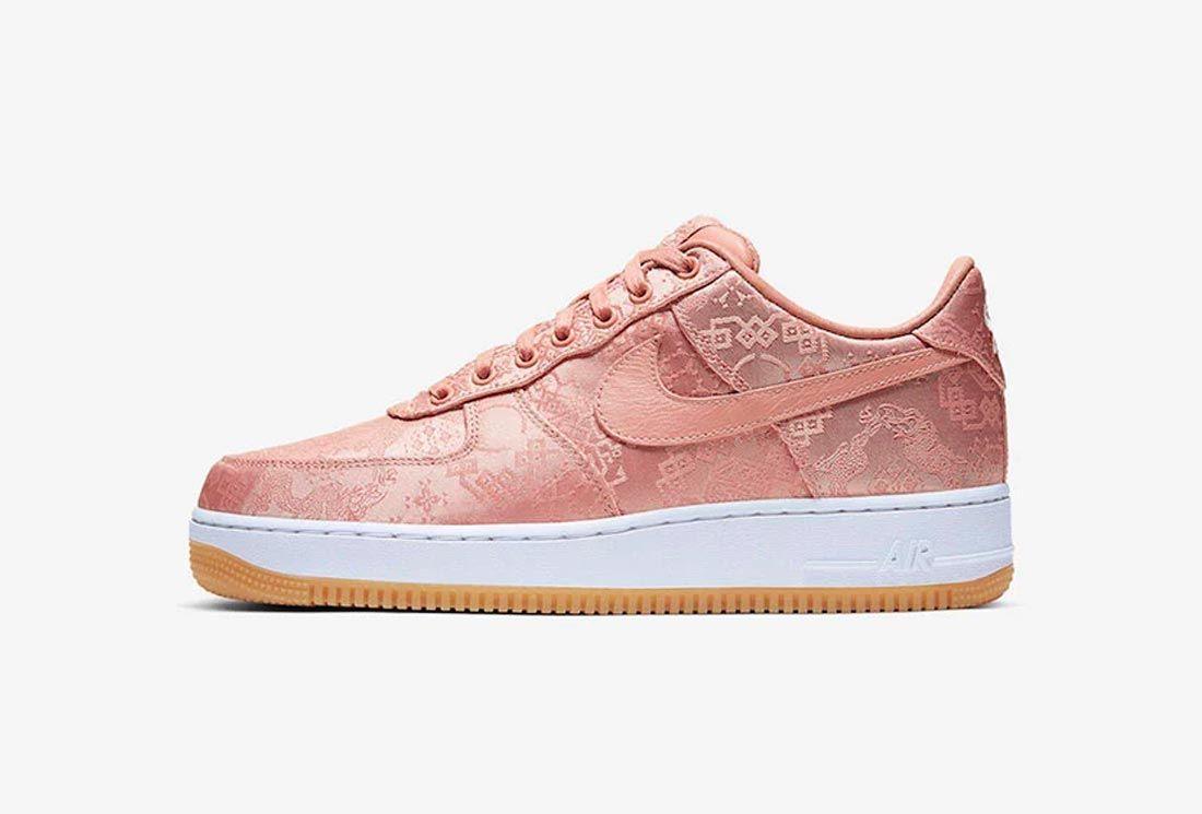 CLOT x Nike Air Force 1 'Rose Gold'