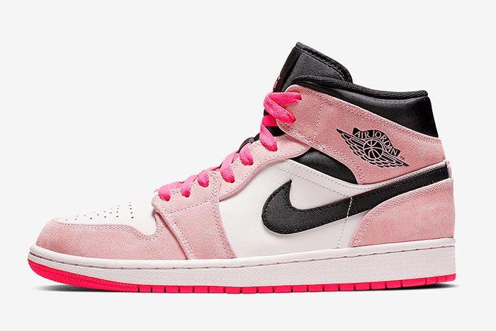Air Jordan 1 Mid Crimson Tint Hyper Pink 852542 801 Release Date Right Side Shot